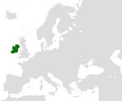 Ireland (orthographic projection)