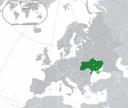 Ukraine (orthographic projection)